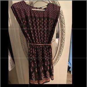 Black colorful bohemian dress